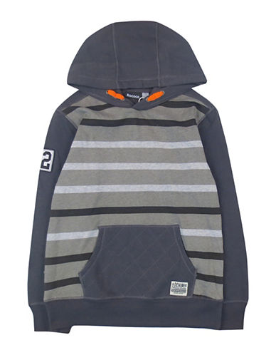 Rococo Popover Stripe Hoodie-GREY-Large 88612894_GREY_Large