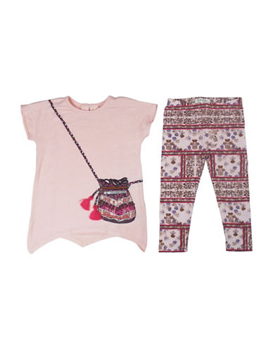 Jessica Simpson Two-Piece Tunic and Leggings Set-PINK-24 Months