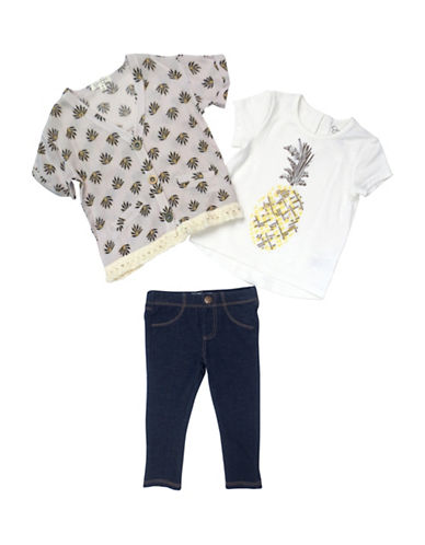 Jessica Simpson Three-Piece Tee, Sweater and Pants Set-GREY-12 Months