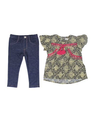 Jessica Simpson Two-Piece Tunic and Pant Set-BLUE-18 Months