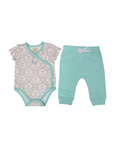 Jessica Simpson Two-Piece Bodysuit and Pant Set-GREEN-3-6 Months