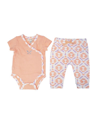Jessica Simpson Two-Piece Bodysuit and Pant Set-PINK-3-6 Months