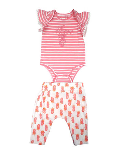 Jessica Simpson Bodysuit and Pants Set-WHITE-0-3 Months