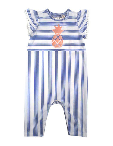 Jessica Simpson Stripe Romper-PURPLE-6-9 Months