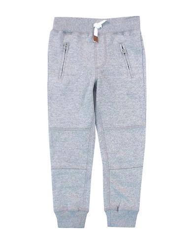 Rococo Elastic Waist Fleece Lounge Pants-GREY-5 plus size,  plus size fashion plus size appare