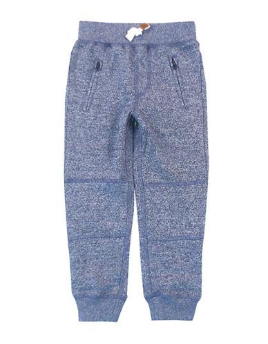 Rococo Elastic Waist Fleece Lounge Pants-BLUE-7 plus size,  plus size fashion plus size appare
