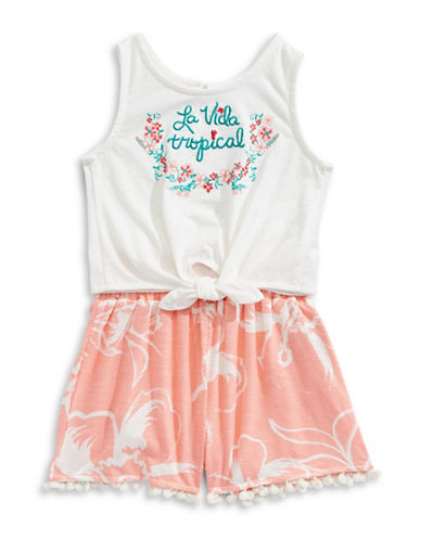 Jessica Simpson La Vida Tropical Two-Piece Set-WHITE-18 Months
