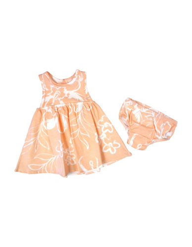 Jessica Simpson Two-Piece Printed Dress and Panty Set-ORANGE-3-6 Months