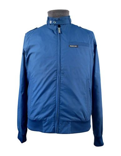 Members Only Iconic Racer Jacket-BLUE-Large
