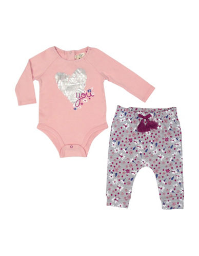 Jessica Simpson Bodysuit and Pants Set-GREY-3-6 Months