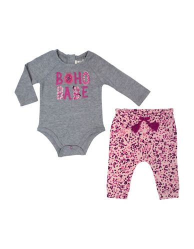 Jessica Simpson Bodysuit and Pants Set-PINK-0-3 Months