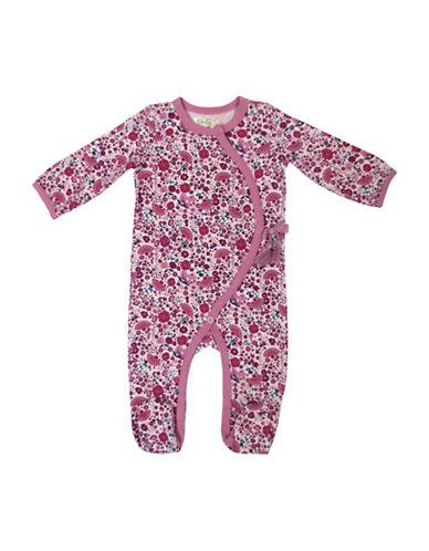 Jessica Simpson Babys Printed Cotton Footie-PINK-0-3 Months