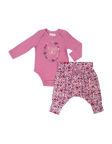 Jessica Simpson Baby's Two-Piece Cotton Bodysuit & Pant Set-PINK-3-6 Months