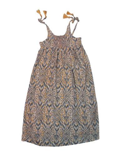 Jessica Simpson Tribal Safari Midi Dress-PEACH-4
