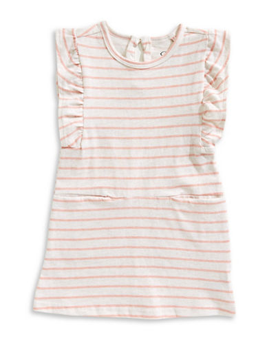 Jessica Simpson Stripe Short-Sleeve Cotton Day Dress-PINK STRIPE-4