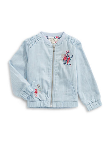 Jessica Simpson Day Tripper Embroidered Jacket-BLUE-18 Months