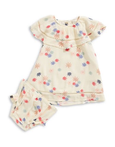 Jessica Simpson 2-Piece Floral Dress and Bloomers Set-BEIGE-12 Months