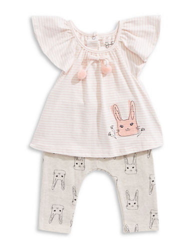 Jessica Simpson Two-Piece Day Tripper Bunny Set-BEIGE-0-3 Months