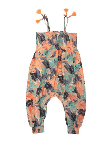 Jessica Simpson Tribal Safari Romper-TROPICAL-24 Months