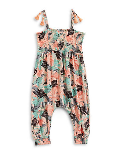 Jessica Simpson Tribal Safari Romper-TROPICAL-2T
