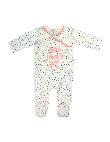 Jessica Simpson Cotton Bonjour Long Sleeve Footies-BEIGE-0-3 Months