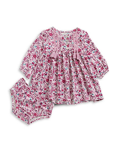 Jessica Simpson Floral Print Dress-PINK-6-9 Months