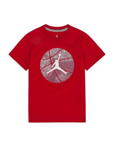 Jordan Graphic Cotton T-Shirt-RED-Large 89058177_RED_Large