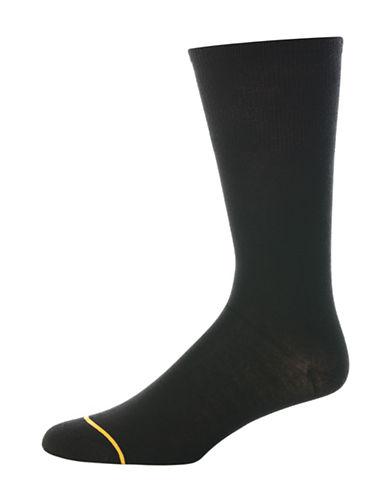Goldtoe Mens Diabetic Solutions Dress Socks-BLACK-10