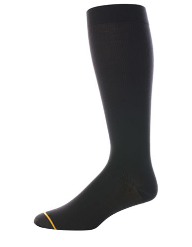 Goldtoe Mens Compression Socks-BLACK-10