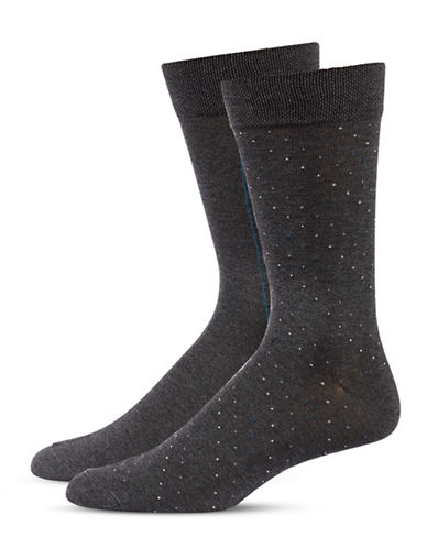 Jockey Mens Two-Pair Stripe and Dot Socks-GREY-10