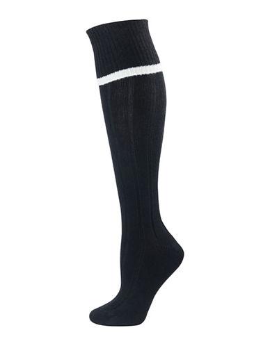 Silks Ribbed Knee-High Socks-BLACK-One Size 88444639_BLACK_One Size