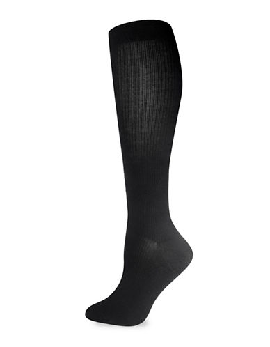 Silks GradCompression KneeHi Socks-BLACK-One Size