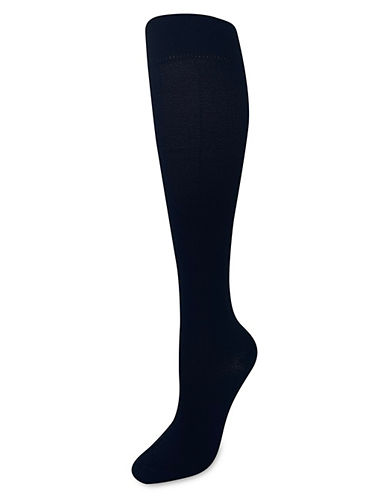 Silks Herring GradCompression KneeHi Socks-BLACK-One Size