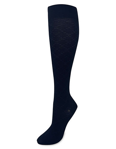 Silks Diamond GradCompression KneeHi Socks-BLACK-One Size