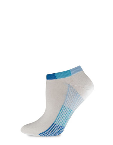 Silks Pixel Sole No Show Socks-BLUE-One Size