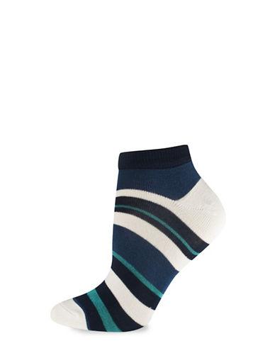 Silks Stripe Low Cut Socks-BEIGE-One Size