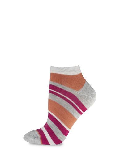 Silks Stripe Low Cut Socks-GREY-One Size