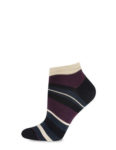 Silks Stripe Low Cut Socks-NAVY-One Size