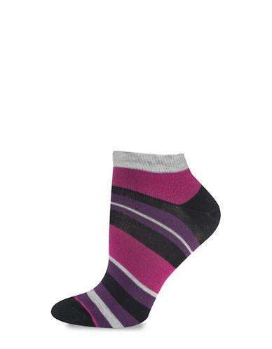 Silks Stripe Low Cut Socks-BLACK-One Size