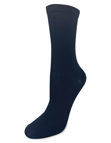Silks Compressed Crew Socks-BLACK-One Size
