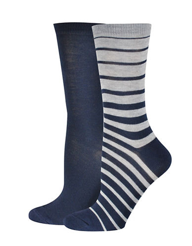 Jockey Stripe Crew Socks-BLUE-One Size