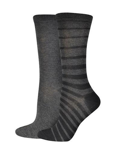 Jockey Stripe Crew Socks-BLACK/GREY-One Size