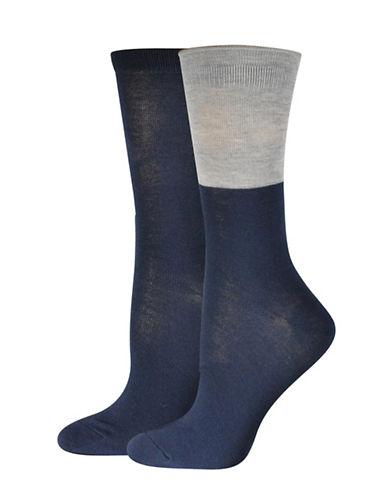 Jockey Colourblock Crew Socks-BLUE-One Size