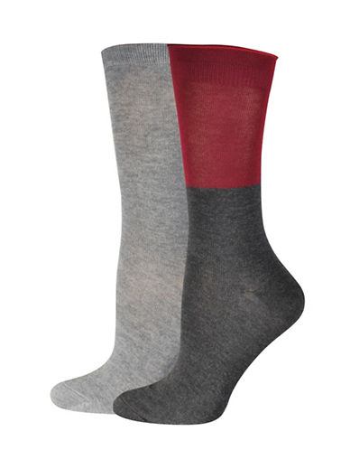 Jockey Colourblock Crew Socks-CHARCOAL-One Size