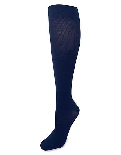Silks GradCompression KneeHi Socks-NAVY-One Size