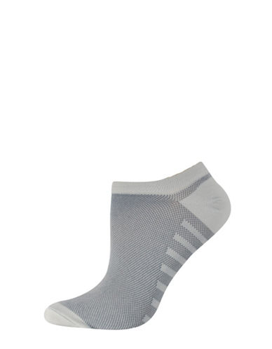 Silks Mesh No Show Socks-GREY-One Size