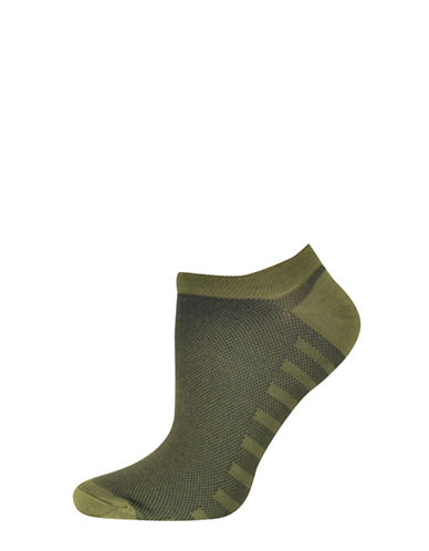 Silks Mesh No Show Socks-GREEN-One Size