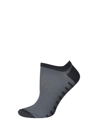 Silks Mesh No Show Socks-CHARCOAL-One Size