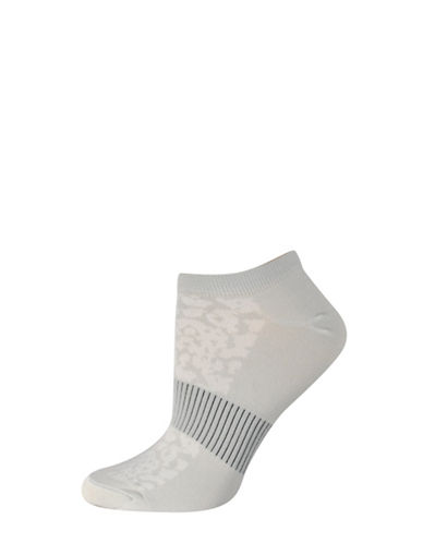 Silks Mesh Pattern No Show Socks-GREY-One Size