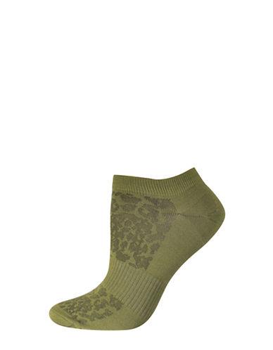 Silks Mesh Pattern No Show Socks-GREEN-One Size